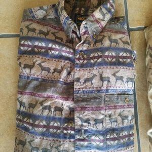 Mens Woolrich Duck Camo Hunting sz L ( 3 ) Shirts